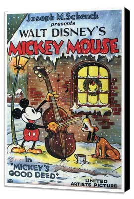 Mickey's Good Deed - 27 x 40 Movie Poster - Style A - Museum Wrapped Canvas
