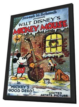Mickey's Good Deed - 11 x 17 Movie Poster - Style A - in Deluxe Wood Frame
