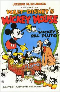 Mickey's Pal Pluto - 43 x 62 Movie Poster - Bus Shelter Style A