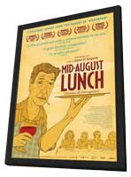 Mid-August Lunch - 11 x 17 Movie Poster - Style A - in Deluxe Wood Frame