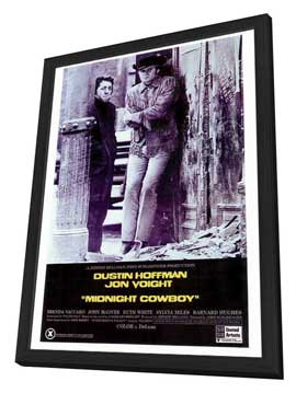 Midnight Cowboy - 27 x 40 Movie Poster - Style A - in Deluxe Wood Frame