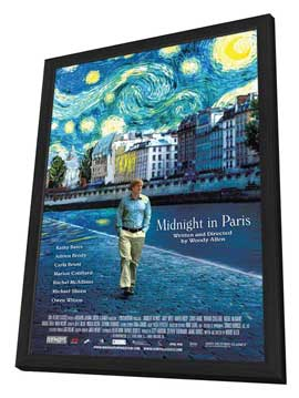 Midnight in Paris - 11 x 17 Movie Poster - Style A - in Deluxe Wood Frame