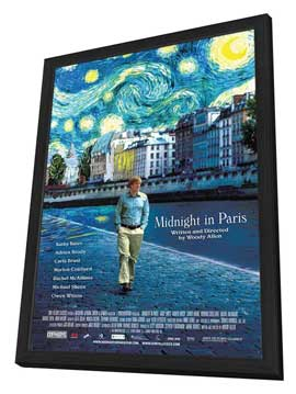 Midnight in Paris - 27 x 40 Movie Poster - Style A - in Deluxe Wood Frame