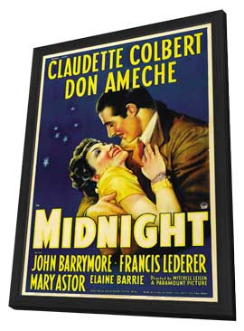 Midnight - 11 x 17 Movie Poster - Style A - in Deluxe Wood Frame