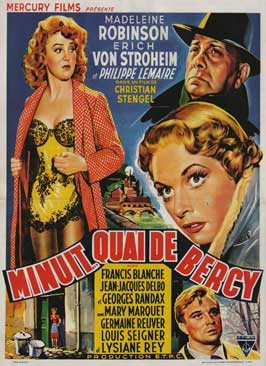 Midnight... Quai de Bercy - 27 x 40 Movie Poster - Belgian Style A