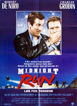 Midnight Run - 27 x 40 Movie Poster - Danish Style A