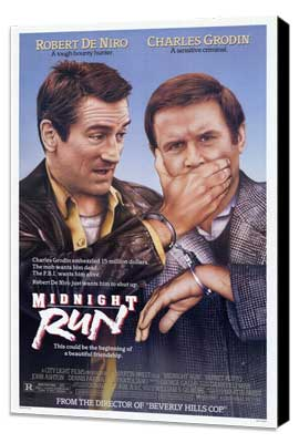 Midnight Run - 27 x 40 Movie Poster - Style A - Museum Wrapped Canvas