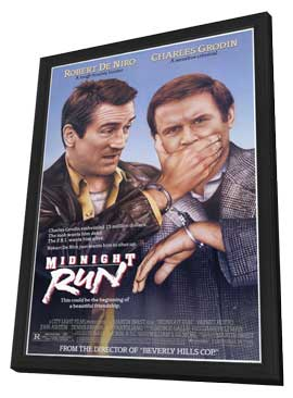 Midnight Run - 11 x 17 Movie Poster - Style A - in Deluxe Wood Frame