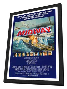 Midway - 27 x 40 Movie Poster - Style A - in Deluxe Wood Frame