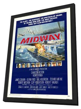 Midway - 11 x 17 Movie Poster - Style A - in Deluxe Wood Frame