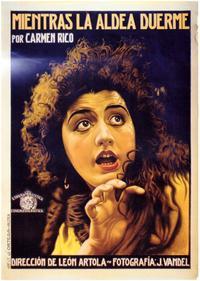 Mientras la Aldea Duerme - 27 x 40 Movie Poster - Spanish Style A
