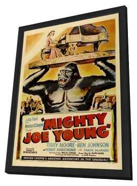 Mighty Joe Young - 11 x 17 Movie Poster - Style B - in Deluxe Wood Frame