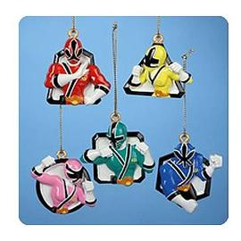 Mighty Morphin Power Rangers: The Movie - 5-Pack Ornaments