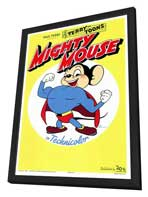 Mighty Mouse - 27 x 40 Movie Poster - Style A - in Deluxe Wood Frame