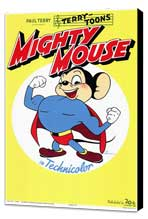 Mighty Mouse - 11 x 17 Movie Poster - Style A - Museum Wrapped Canvas