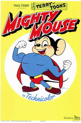 Mighty Mouse - 11 x 17 Movie Poster - Style A