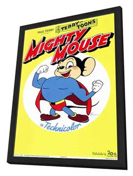 Mighty Mouse - 11 x 17 Movie Poster - Style A - in Deluxe Wood Frame