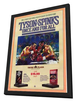 Mike Tyson, Once and For All - 11 x 17 Movie Poster - Style A - in Deluxe Wood Frame