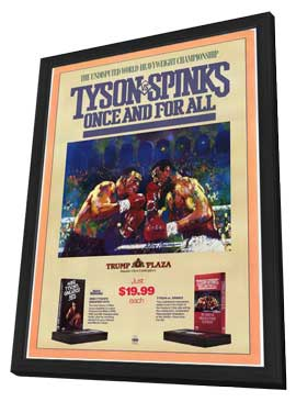 Mike Tyson, Once and For All - 27 x 40 Movie Poster - Style A - in Deluxe Wood Frame