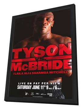 Mike Tyson vs Kevin McBride - 11 x 17 Boxing Promo Poster - Style A - in Deluxe Wood Frame