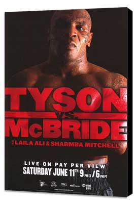Mike Tyson vs Kevin McBride - 11 x 17 Boxing Promo Poster - Style A - Museum Wrapped Canvas