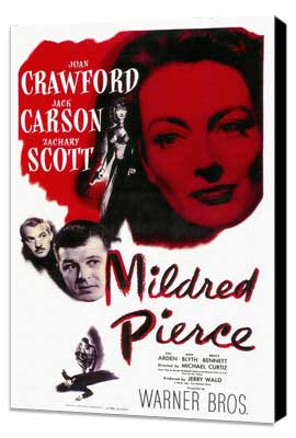 Mildred Pierce - 11 x 17 Movie Poster - Style A - Museum Wrapped Canvas
