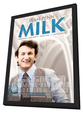 Milk - 11 x 17 Movie Poster - Style A - in Deluxe Wood Frame