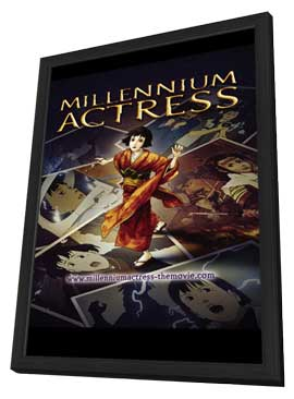 Millennium Actress - 11 x 17 Movie Poster - Japanese Style A - in Deluxe Wood Frame