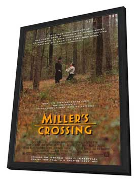 Miller's Crossing - 27 x 40 Movie Poster - Style A - in Deluxe Wood Frame