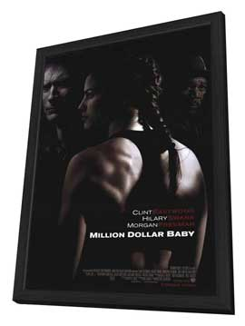 Million Dollar Baby - 11 x 17 Movie Poster - Style A - in Deluxe Wood Frame