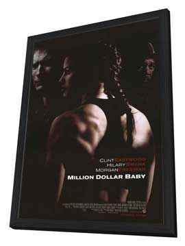 Million Dollar Baby - 27 x 40 Movie Poster - Style A - in Deluxe Wood Frame