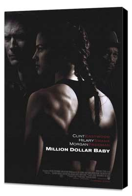 Million Dollar Baby - 11 x 17 Movie Poster - Style A - Museum Wrapped Canvas