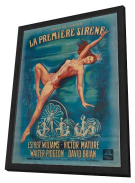 Million Dollar Mermaid - 27 x 40 Movie Poster - Style A - in Deluxe Wood Frame