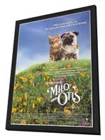 Milo & Otis - 11 x 17 Movie Poster - Style B - in Deluxe Wood Frame