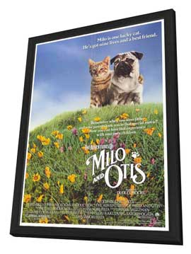Milo & Otis - 27 x 40 Movie Poster - Style A - in Deluxe Wood Frame