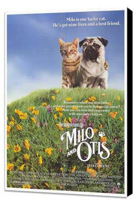 Milo & Otis - 27 x 40 Movie Poster - Style A - Museum Wrapped Canvas