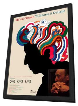 Milton Glaser: To Inform and Delight - 11 x 17 Movie Poster - Style A - in Deluxe Wood Frame