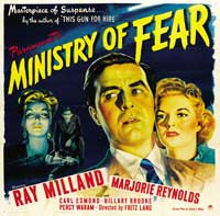 Ministry of Fear - 30 x 30 Movie Poster - Style B