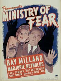 Ministry of Fear - 11 x 17 Movie Poster - Style B