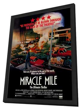 Miracle Mile - 27 x 40 Movie Poster - Style A - in Deluxe Wood Frame