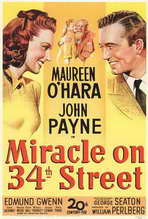 """Miracle On 34th Street"" Movie Poster"