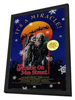 Miracle on 34th Street - 27 x 40 Movie Poster - Style B - in Deluxe Wood Frame