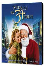 Miracle on 34th Street - 11 x 17 Movie Poster - Style C - Museum Wrapped Canvas