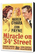 Miracle on 34th Street - 27 x 40 Movie Poster - Style A - Museum Wrapped Canvas
