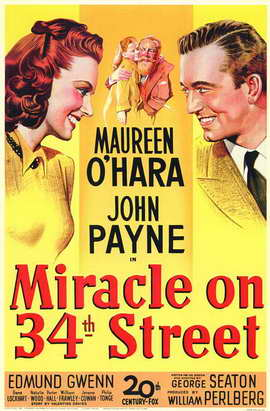 Miracle on 34th Street - 11 x 17 Movie Poster - Style A