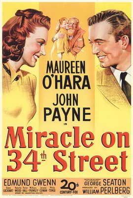 Miracle on 34th Street - 27 x 40 Movie Poster - Style A