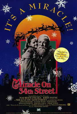 Miracle on 34th Street - 27 x 40 Movie Poster - Style B