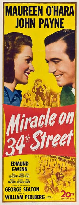 Miracle on 34th Street - 20 x 40 Movie Poster - Style A