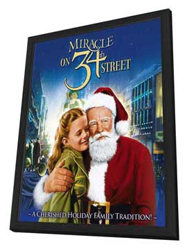 Miracle on 34th Street - 11 x 17 Movie Poster - Style C - in Deluxe Wood Frame