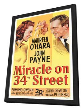 Miracle on 34th Street - 27 x 40 Movie Poster - Style A - in Deluxe Wood Frame
